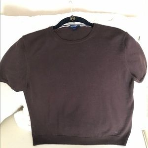 BURBERRY Made in Italy Short-Sleeve Sweater